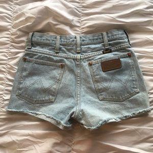 Vintage upcycled Wrangler shorts